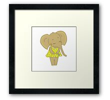 Cute elephant girl Framed Print