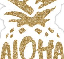 Aloha Beaches Faux Gold Glitter Sticker