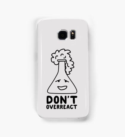 Chemistry Beaker Drawing - Don't Overreact Samsung Galaxy Case/Skin
