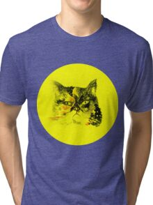 Colorful watercolor of cat Tri-blend T-Shirt