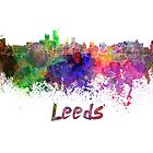 Leeds skyline in watercolor by paulrommer