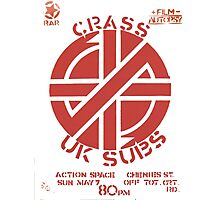 Old Crass Flyer Photographic Print