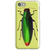 Green beetle red tail iPhone Case/Skin
