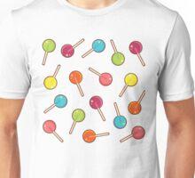 Lollipop Pattern Purple  Unisex T-Shirt