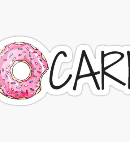 I Donut Care Sticker