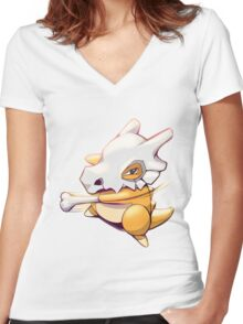 #104 - Cubone Women's Fitted V-Neck T-Shirt