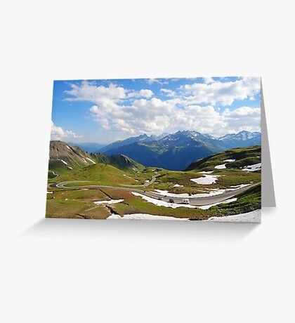 Grossglockner road in Austria Greeting Card