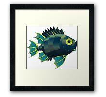 Mechanical Fish Patttern Framed Print