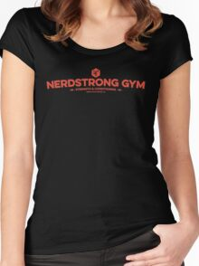 Nerdstrong Logo - Red Women's Fitted Scoop T-Shirt