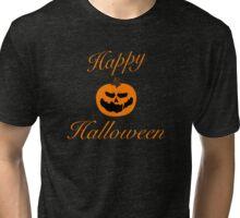 Happy Halloween Jack-O-Lantern Tri-blend T-Shirt