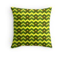Yellow green alert Throw Pillow