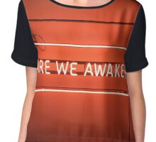 The 1975 Are We Awake Neon Sign Chiffon Top