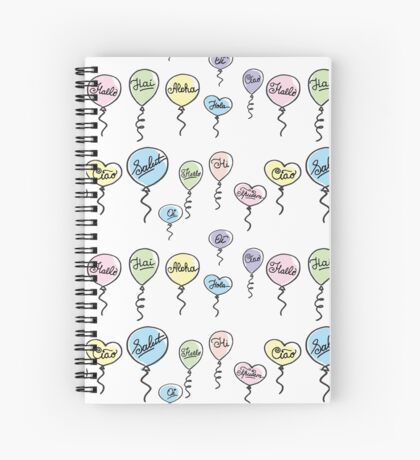 pattern hello in different languages Spiral Notebook