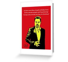 Eddie Izzard Christmas Greeting Card
