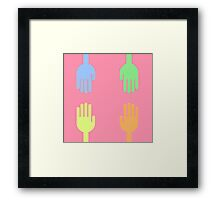 """""""Give me a hand"""" texture by MrN Framed Print"""