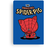 The Amazing Spider-Pig Canvas Print