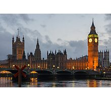 Big Ben, Clock Tower in London Photographic Print