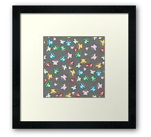 Seamless pattern of colorful butterflies  Framed Print