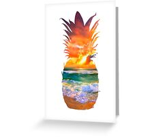 Sunset Pineapple Greeting Card