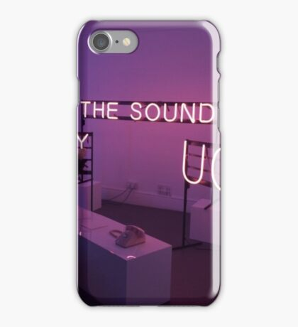 The 1975 The Sound, UGH, Somebody Else Neon Signs iPhone Case/Skin