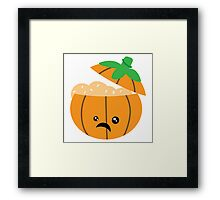 Pumpkin Brains Framed Print