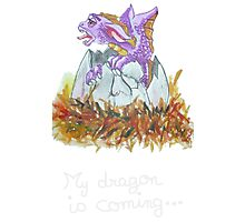 my dragon is coming Photographic Print