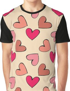 seamless colorful heart pattern Graphic T-Shirt