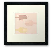 """Caffè mocha hand"" texture by MrN Framed Print"