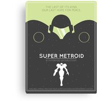Super Metroid: Retro Poster Canvas Print
