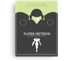 Super Metroid: Retro Poster Canvas Print