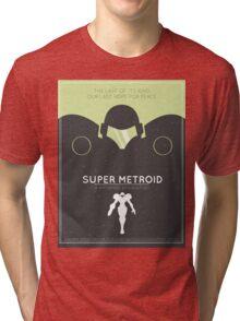 Super Metroid: Retro Poster Tri-blend T-Shirt