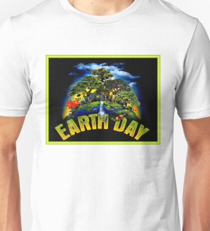 EARTH DAY; Conservation Advertising Print Unisex T-Shirt