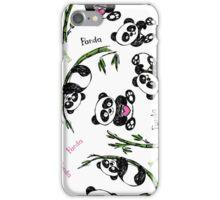 pattern with cute panda.  iPhone Case/Skin