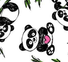 pattern with cute panda.  Sticker