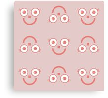 """Happy Pink big eyes"" texture by MrN Canvas Print"