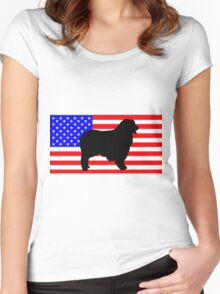 AS silhouette on flag Women's Fitted Scoop T-Shirt
