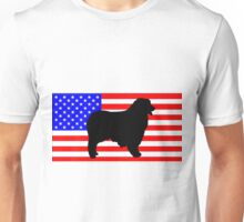 AS silhouette on flag Unisex T-Shirt