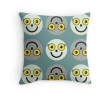"""""""Yellow eyes on my face"""" texture by MrN Throw Pillow"""