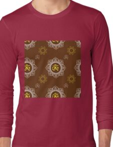 pattern with Om ornament Long Sleeve T-Shirt