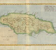 Vintage Map of Jamaica (1780) by BravuraMedia