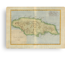 Vintage Map of Jamaica (1780) Canvas Print