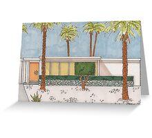 Palm Springs Mid-Century Modern Melon Door Greeting Card