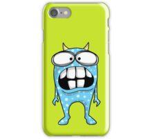 Crazy Big Toothed Blue Monster iPhone Case/Skin
