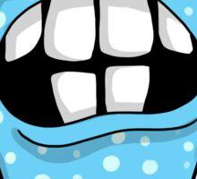 Crazy Big Toothed Blue Monster Sticker