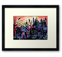 HALLOWEEN CITY Framed Print