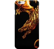 Fiery Molten Burning Dragon Design iPhone Case/Skin