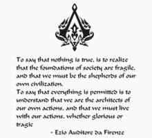 Nothing is True, Everything is Permitted (Black Lettering) by KewlZidane