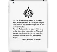 Nothing is True, Everything is Permitted (Black Lettering) iPad Case/Skin