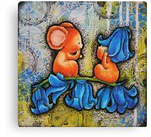 BlueBell Mice Canvas Print