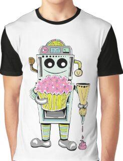 Birthday Cupcake Bake Bot Graphic T-Shirt